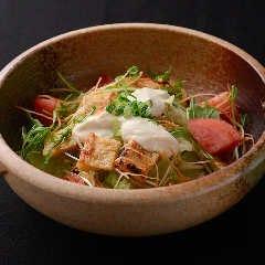 京豆腐ドレッシングのサラダ