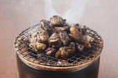 地鶏の炭火焼