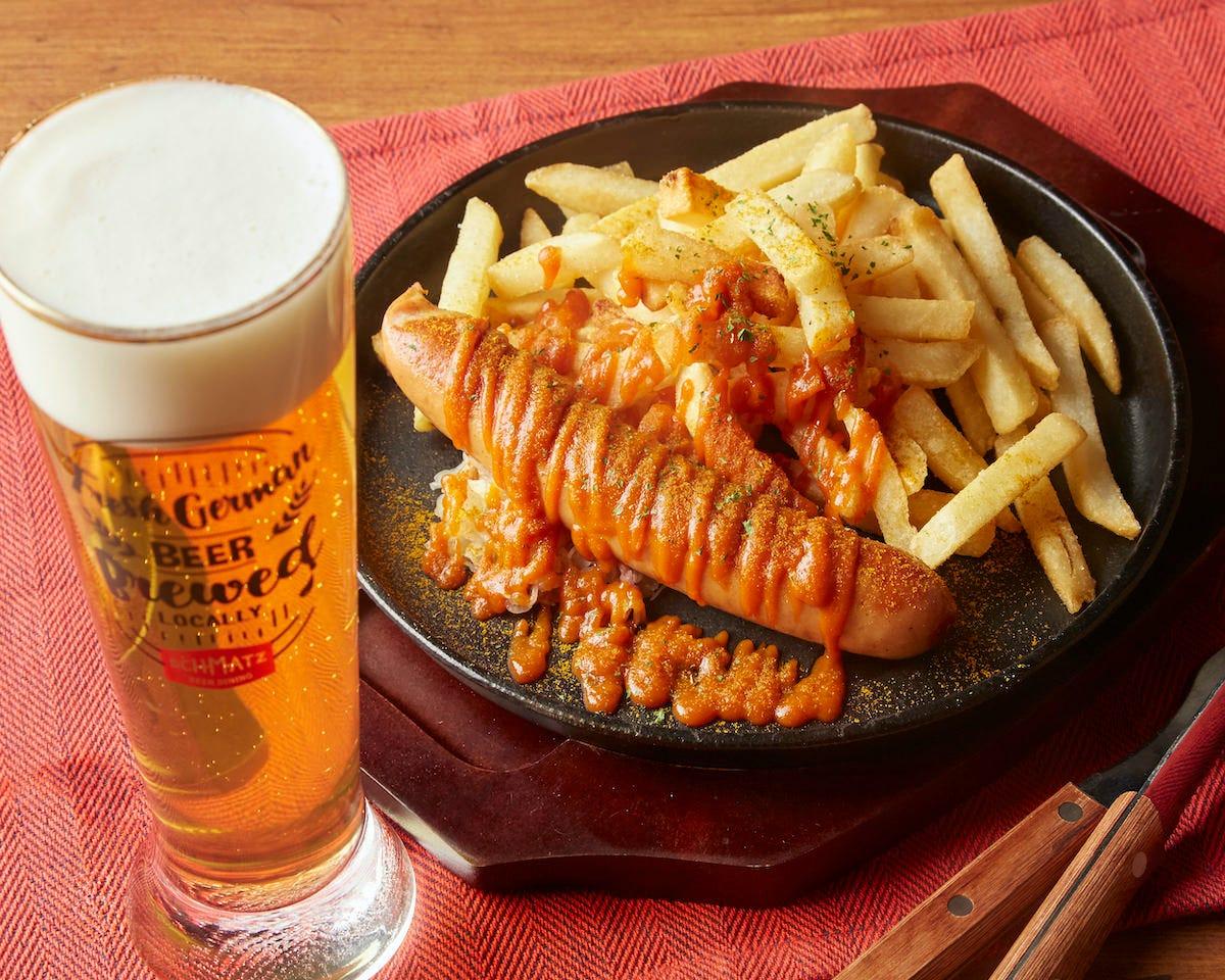 休日などにお昼からビールを楽しむのがドイツ流ランチです♪