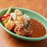 唐揚げと彩り野菜のビーフカレー /Beef Curry Stewed in German Beer and Vegetables With Karaage