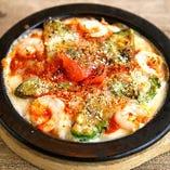 海老とアボカドのトマトクリームドリア