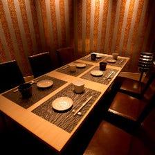 新宿での接待に4~10名完全個室