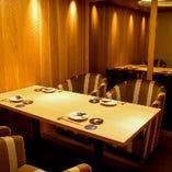 周りを気にせず、落ち着いた空間でお食事をお愉しみ頂けます