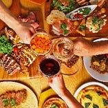パーティーを盛り上げる当店自慢の料理!ワインとご一緒にどうぞ