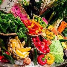 篤農家から直接契約で仕入れた野菜