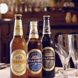 バルティカビールで乾杯(バルティカ950円〜、生580円〜)