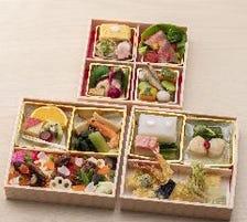 ★歓送迎会に最適★「旬の彩り弁当3段」3,800円  -要予約-