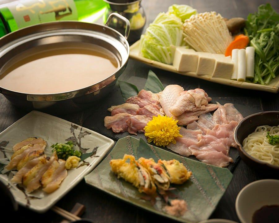 天草大王の鶏鍋コース 4500円(税抜)