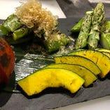 有機野菜の焼き野菜盛り合わせ