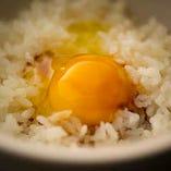 〆にピッタリの契約卵のたまごかけご飯