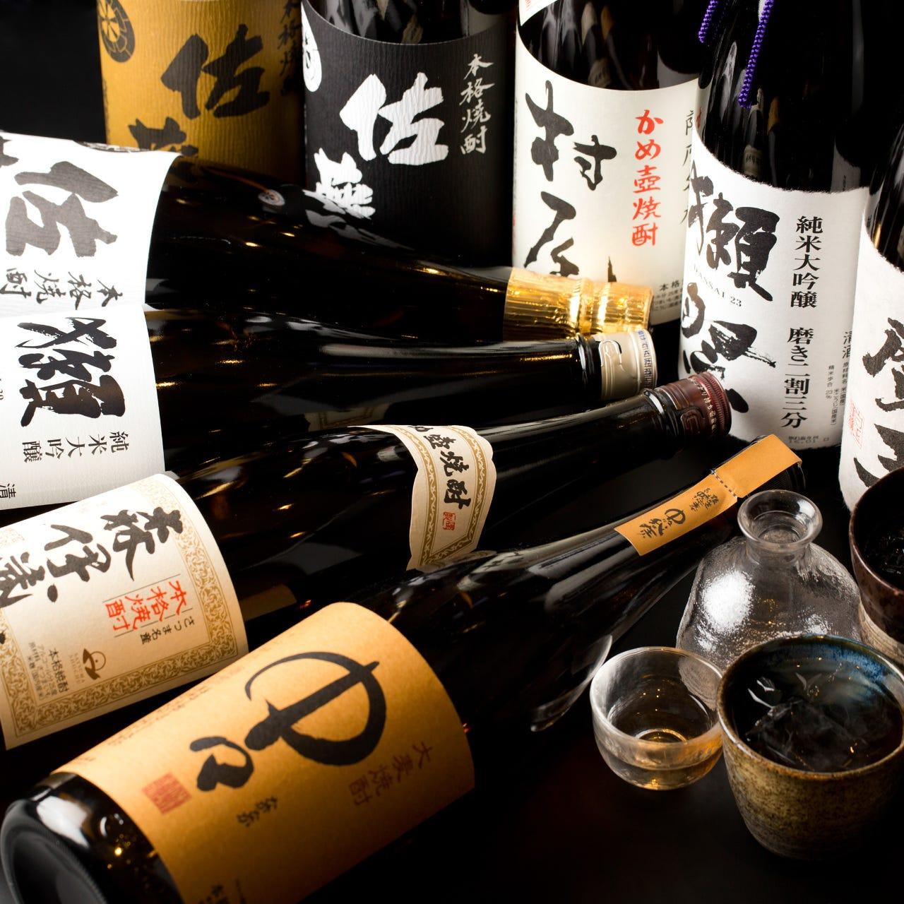 日本全国の銘酒は店主厳選の逸品揃い