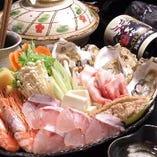 選べる鍋コース・全国食べ歩き旨いものコース対象 +500円で鍋を「海鮮ちゃんこ鍋」にグレードアップ