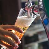 生ビールも飲み放題!40種以上のドリンクをお楽しみいただけます