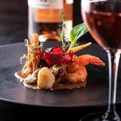 広島牡蠣と天使の海老のフリカッセ アメリケーヌソース
