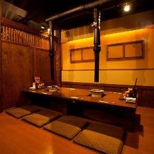 宴会に人気の掘りごたつ個室