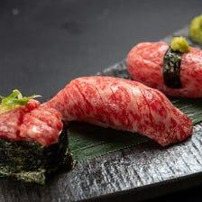 特上炙り肉寿司 極上ロース3種盛