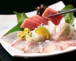 本日の鮮魚お造り3種盛り合せ