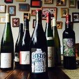 種類豊富なワインも自慢。無農薬・有機農法で育てられた葡萄のみを使用したヴァンナチュールがおすすめ