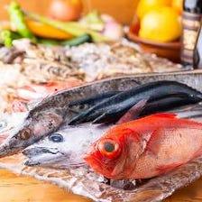 海のマルシェ自慢の新鮮食材が満載♪