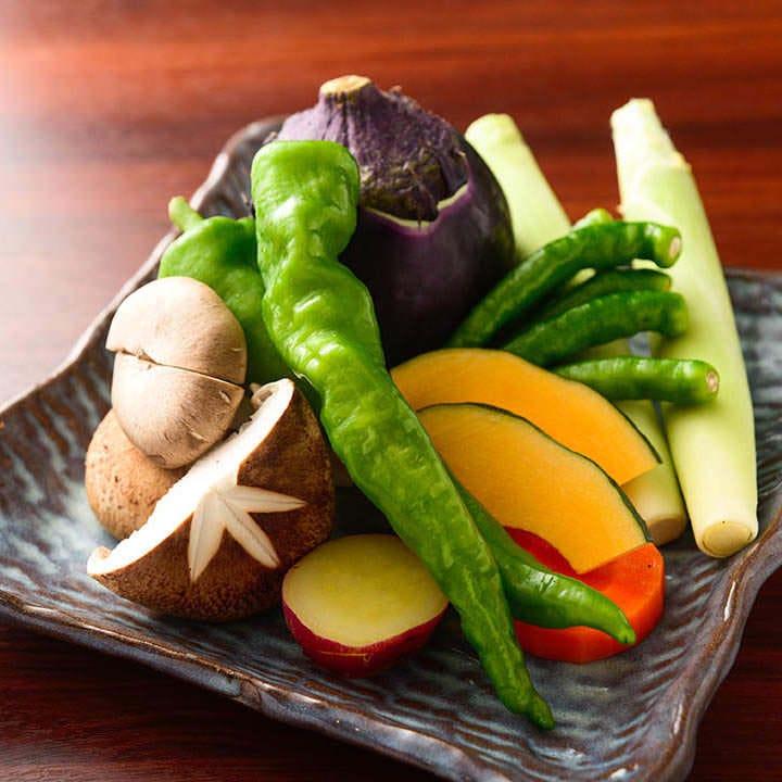 旬の野菜や魚介など食材にこだわっています
