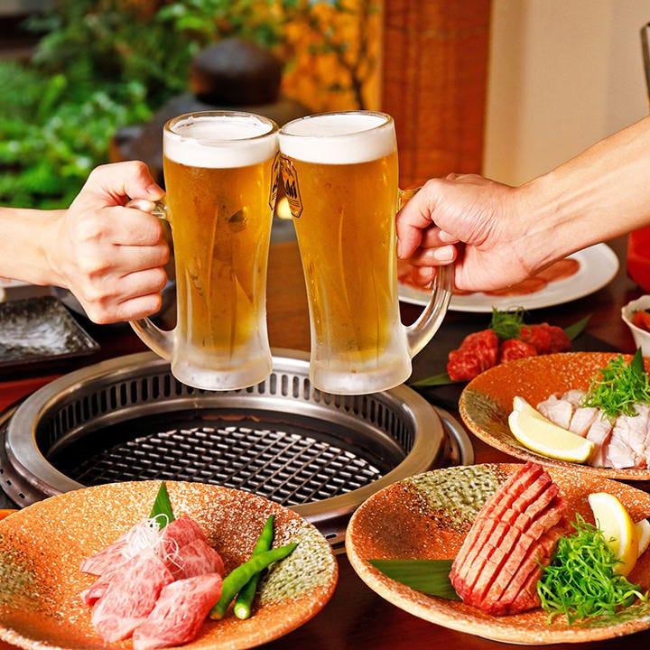 宴会は上質な焼肉を落ち着いた雰囲気の店内で楽しみましょう