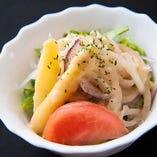 丹波の旬野菜を使用したサラダ