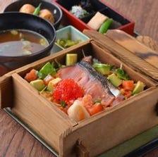 海鮮チラシ(小鉢・二点小鉢・香の物・お椀付)