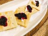クリームチーズとブルーベリー