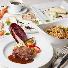 彩り豊かな5種の前菜やシェフ自慢のパスタ、北海道十勝牛を味わうコース<全6品>