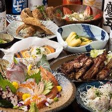 肉料理も海鮮も旬の味覚も味わえる!