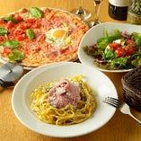 ■ディナーセット■ パスタもピッツァも食べられる欲張りセット
