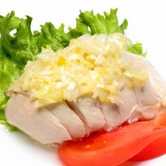 蒸し鶏の葱油風味