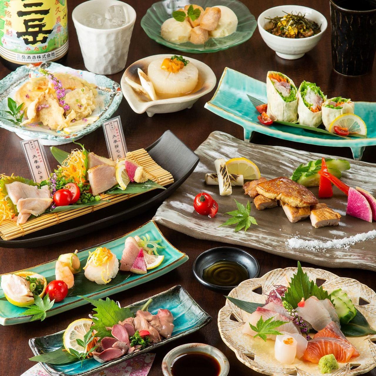 <特別>大摩桜とフォアグラのミルフィーユステーキがメイン!黄金鶏コース■3時間飲み放題付き