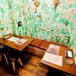 緑の半個室