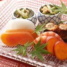 【ディナー】乾杯ドリンク付 季節の懐石料理(税・サ込)