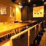 10名様以上の中規模飲み会や宴会には、奥の秘密の個室がおすすめ