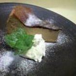黒糖チーズケーキ 単品¥500ドリンクセット¥830