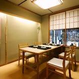 個室テーブル席2~6名様 女性や外国からのお客様に人気のお席