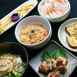 料理6品納得のお値段!!学生コースです。(画像は2人前)
