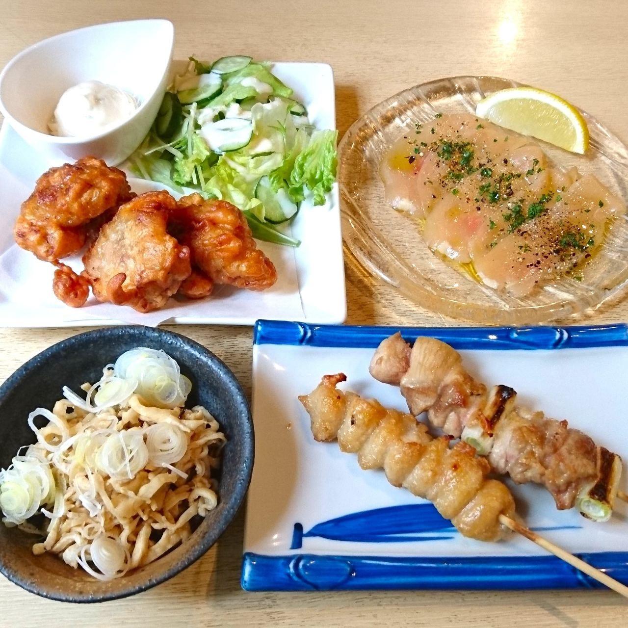 菜彩鶏「鶏づくしセット」1000円!さらに+1500円で90分飲み放題!