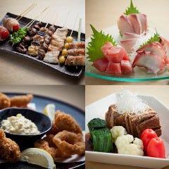 自慢の串焼き付き!季節の宴会コース 2時間飲み放題付き3500円!