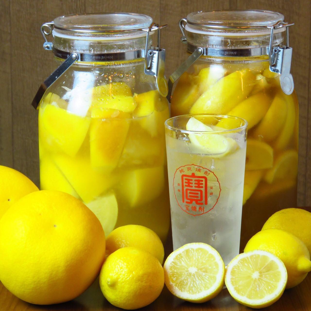 自家製レモンサワーや豊富な日本酒◎