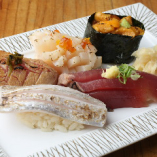 本日の炙り握り寿司5貫