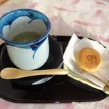 昆布茶&和菓子