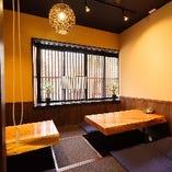 少人数のご宴会や接待に最適な掘り炬燵個室を完備!