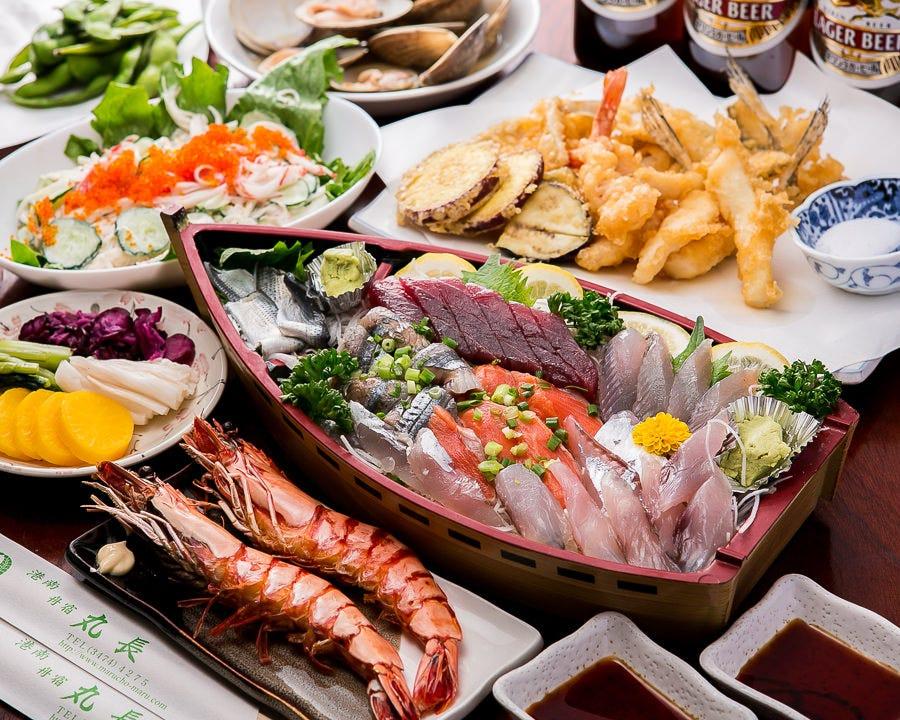 江戸前天ぷらや漁師の獲れたて 鮮魚コース2H飲み放題8,800円~
