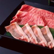 [個室]牛豚食べ比べ 出汁しゃぶ会席 水明 9000円