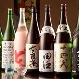常時入れ替わりで約70種類の日本酒をご用意しております!!