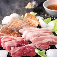 二大ジンギスカンと道産山わさびの豚三枚肉食べ放題 (お一人様 100分)