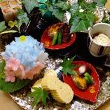 旬の食材を使用した、会席コース。
